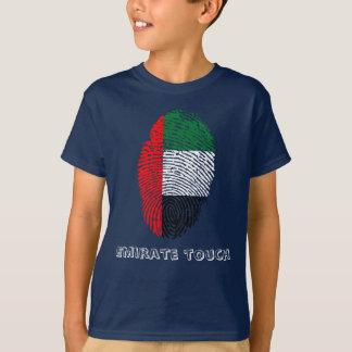 Bandera de la huella dactilar del tacto del camiseta