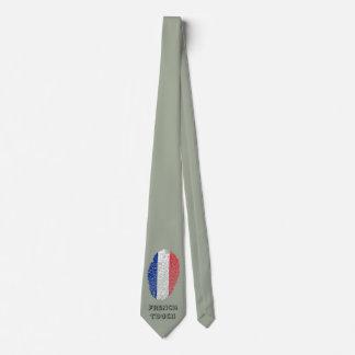 Bandera de la huella dactilar del tacto del corbata personalizada