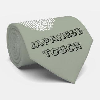 Bandera de la huella dactilar del tacto del corbatas personalizadas