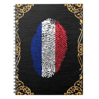 Bandera de la huella dactilar del tacto del cuaderno