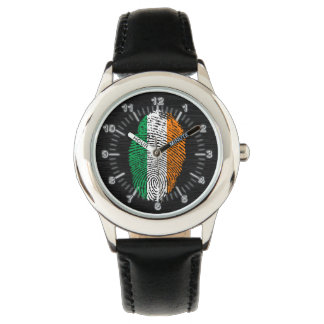 Bandera de la huella dactilar del tacto del reloj de pulsera