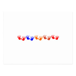 Bandera de la impresión de la mano postal