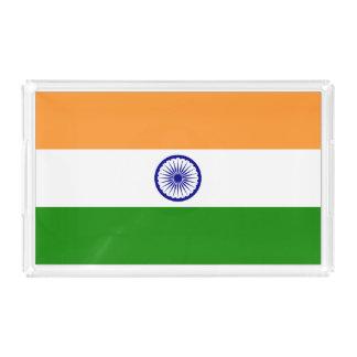 Bandera de la India Bandeja Acrílica