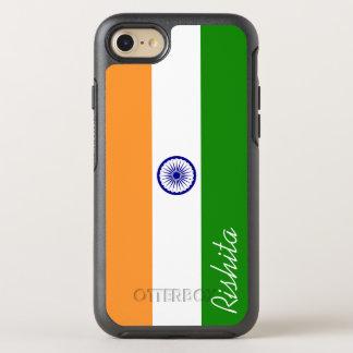 Bandera de la India con el monograma Funda OtterBox Symmetry Para iPhone 7
