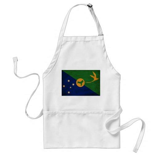 Bandera de la Isla de Navidad Delantales