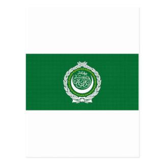 Bandera de la liga árabe tarjetas postales