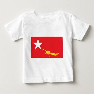 Bandera de la liga para la democracia nacional camiseta de bebé