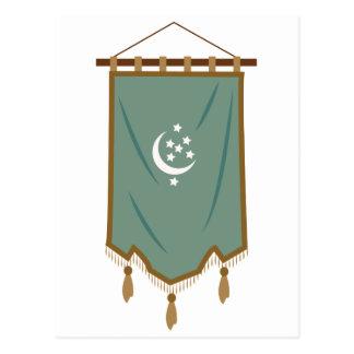 Bandera de la luna de la persona impar postal