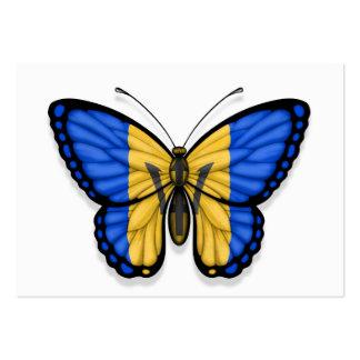 Bandera de la mariposa de Barbados Plantillas De Tarjetas De Visita
