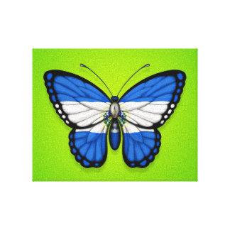 Bandera de la mariposa de El Salvador en verde Impresion En Lona