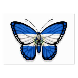 Bandera de la mariposa de El Salvador Plantillas De Tarjetas De Visita