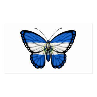 Bandera de la mariposa de El Salvador Tarjetas De Visita