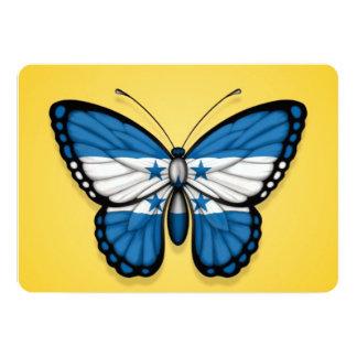 Bandera de la mariposa de Honduras en amarillo Invitación 12,7 X 17,8 Cm