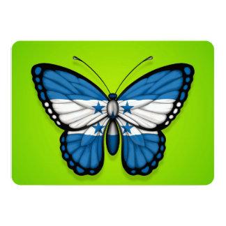 Bandera de la mariposa de Honduras en verde Invitación 12,7 X 17,8 Cm
