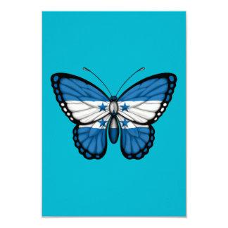 Bandera de la mariposa de Honduras Invitación 8,9 X 12,7 Cm