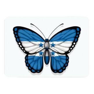 Bandera de la mariposa de Honduras Invitación 12,7 X 17,8 Cm