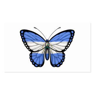 Bandera de la mariposa de Nicaragua Tarjeta De Negocio
