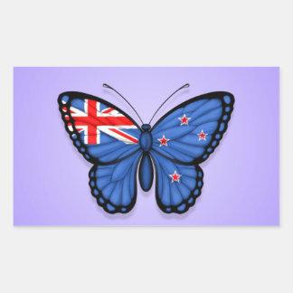 Bandera de la mariposa de Nueva Zelanda en púrpura Rectangular Altavoces