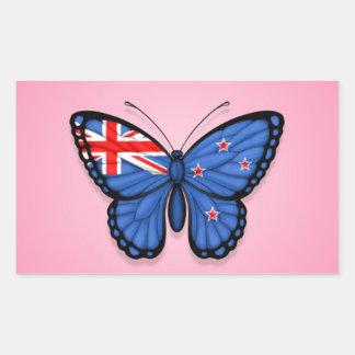Bandera de la mariposa de Nueva Zelanda en rosa Rectangular Altavoz