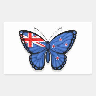 Bandera de la mariposa de Nueva Zelanda Pegatina