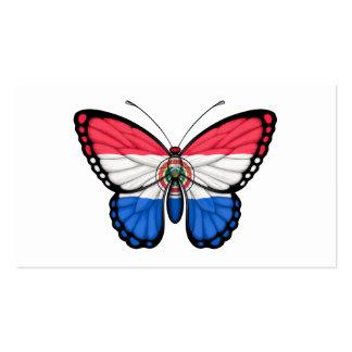 Bandera de la mariposa de Paraguay Tarjetas De Visita