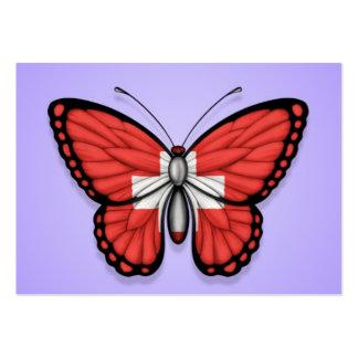 Bandera de la mariposa de Suiza en púrpura Tarjetas De Negocios