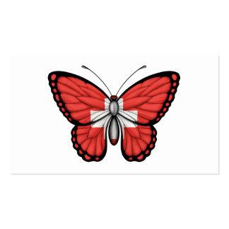 Bandera de la mariposa de Suiza Plantillas De Tarjetas Personales