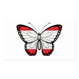Bandera de la mariposa de Tahitian Plantilla De Tarjeta Personal