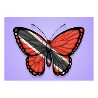 Bandera de la mariposa de Trinidad and Tobago en p Tarjetas De Visita
