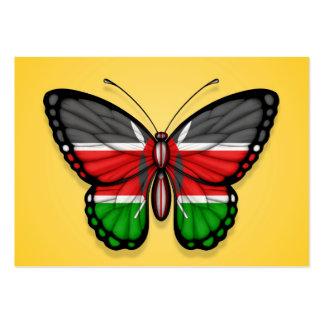 Bandera de la mariposa del Kenyan en amarillo Plantillas De Tarjetas Personales