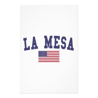 Bandera de La Mesa los E.E.U.U. Papelería Personalizada
