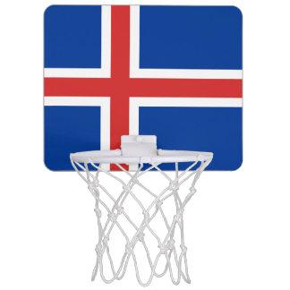 Bandera de la mini meta del baloncesto de Islandia Mini Tablero De Baloncesto