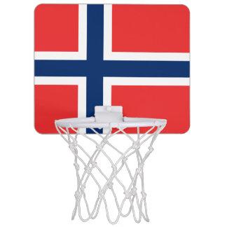 Bandera de la mini meta del baloncesto de Noruega Mini Tablero De Baloncesto