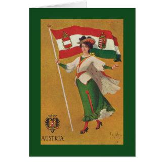 Bandera de la monarquía dual (Austria-Hungría) Tarjeta De Felicitación