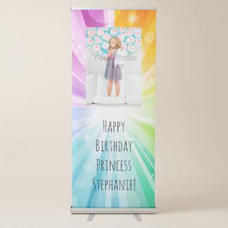 Bandera de la muestra del cumpleaños de los chicas pancarta retráctil