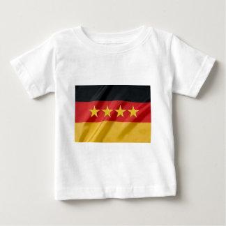 bandera de la mundo-taza camiseta de bebé