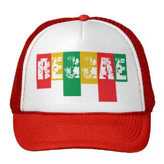 bandera de la pintada del reggae del rasta gorros