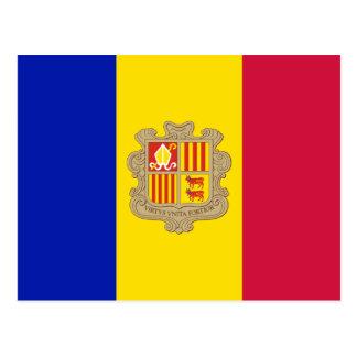 Bandera de la postal de Andorra