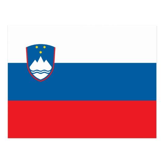 Bandera de la postal de Eslovenia