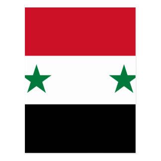 Bandera de la república árabe siria - bandera de postal