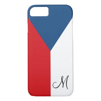 Bandera de la República Checa con monograma Funda iPhone 7