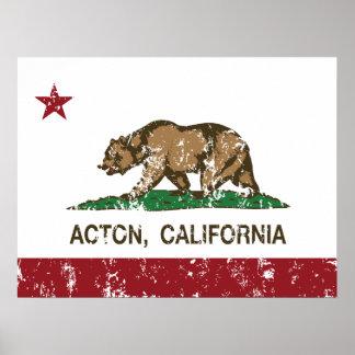 Bandera de la república de Acton California Póster