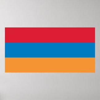 Bandera de la República de Armenia Poster