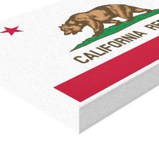 Bandera de la república de California Impresión En Lona Estirada