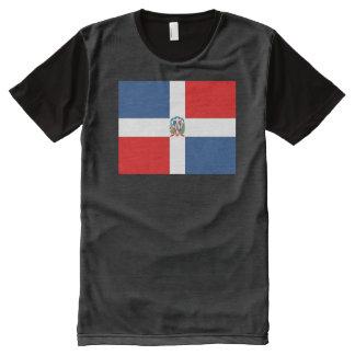 Bandera de la República Dominicana Camisetas Con Estampado Integral