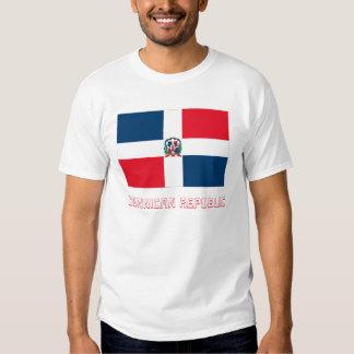 Bandera de la República Dominicana con nombre Camisetas