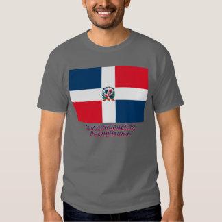 Bandera de la República Dominicana con nombre en Camisas
