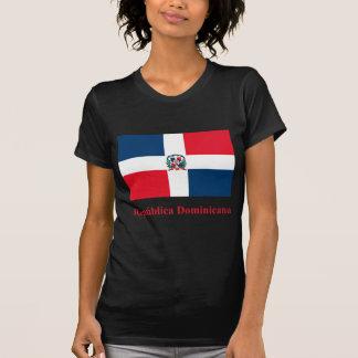Bandera de la República Dominicana con nombre en Camiseta