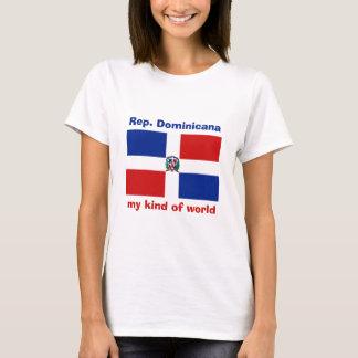 Bandera de la República Dominicana + Mapa + Camiseta