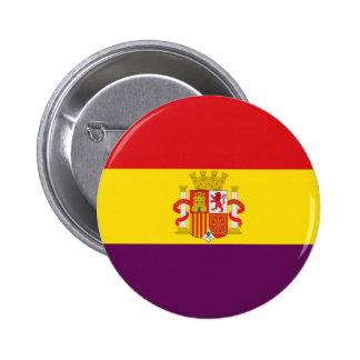 Bandera de la República Española Chapa Redonda De 5 Cm